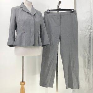 Talbots petites wool heritage straight pants suit